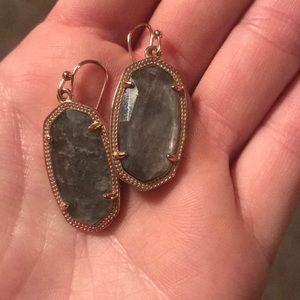 Kendra Scott gray earrings worn once